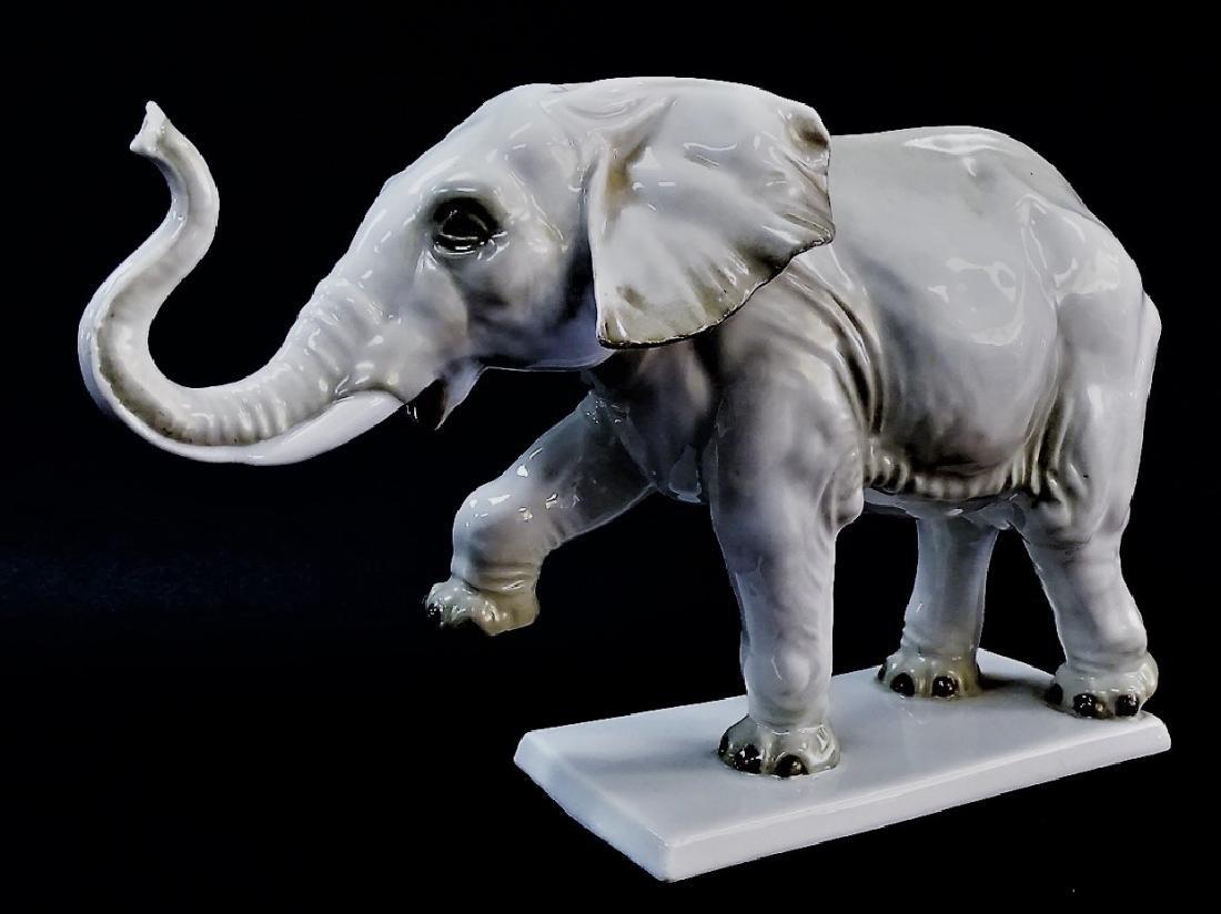 LARGE ROSENTHAL PORCELAIN CIRCUS ELEPHANT - 2
