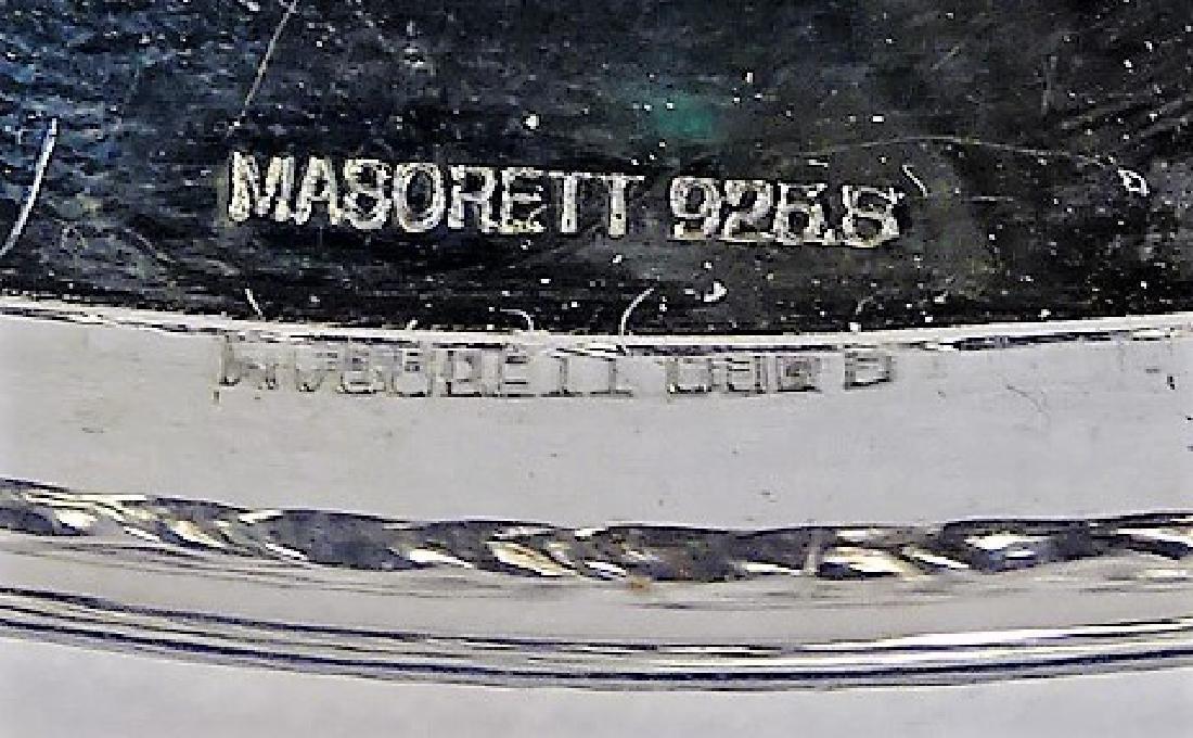 MASORETT VTG STERLING SILVER CIRCULAR SEDER TRAY - 3