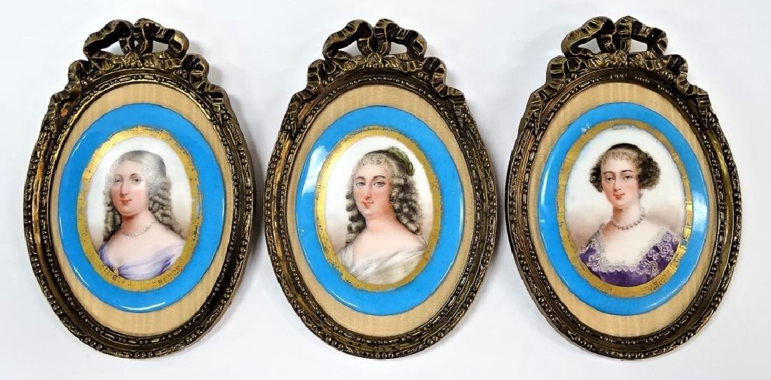 THREE 19TH C. FRENCH PORCELAIN PORTRAIT PLAQUES