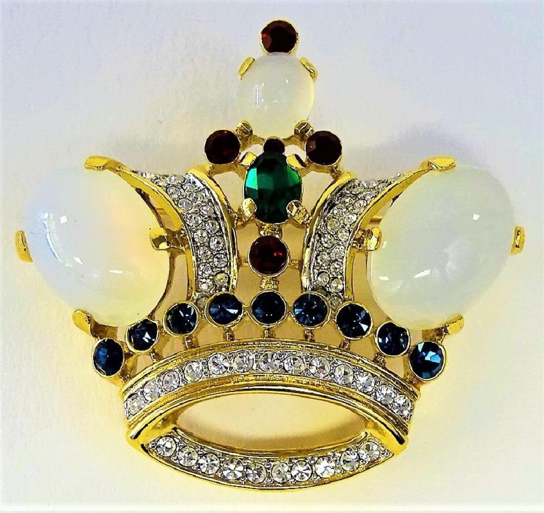 VINTAGE TRIFARI JELLY BELLY CROWN - 2