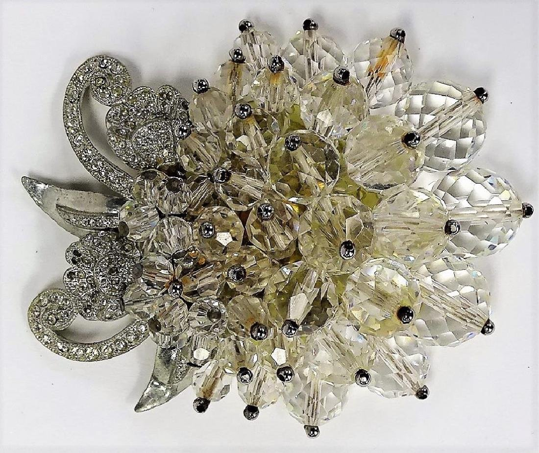 LG UNSIGNED MIRIAM HASKELL CRYSTAL PIN