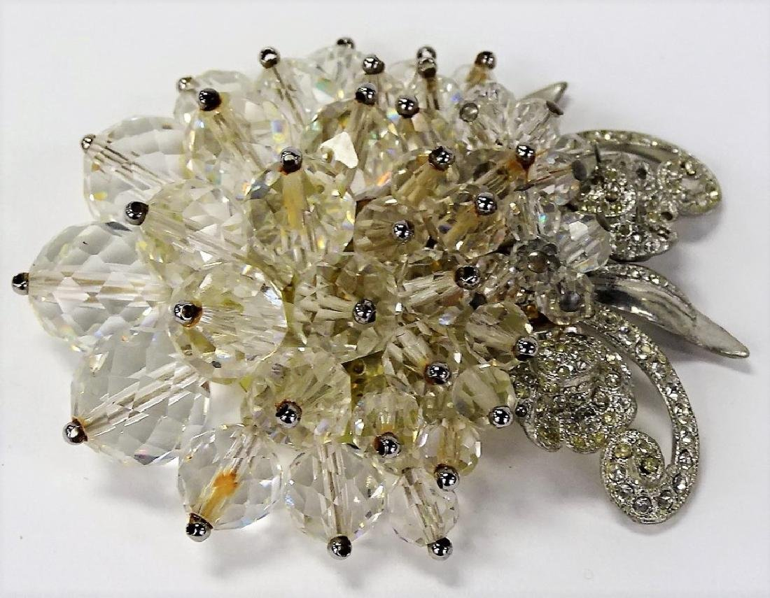 LG UNSIGNED MIRIAM HASKELL CRYSTAL PIN - 2