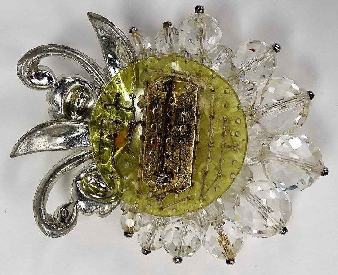 LG UNSIGNED MIRIAM HASKELL CRYSTAL PIN - 3