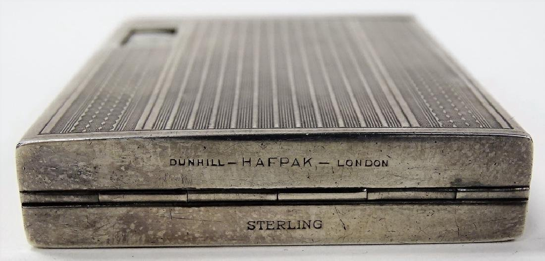 RARE DUNHILL ENG STERLING CIGARETTE & CLOCK BOX - 6