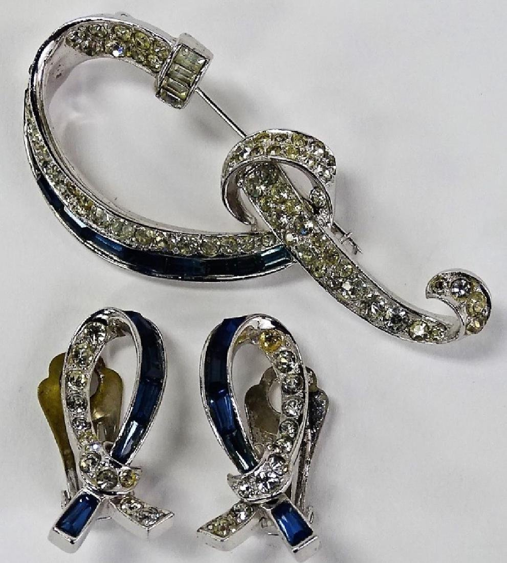 BOUCHER SILVER AND FAUX SAPPHIRE SUITE