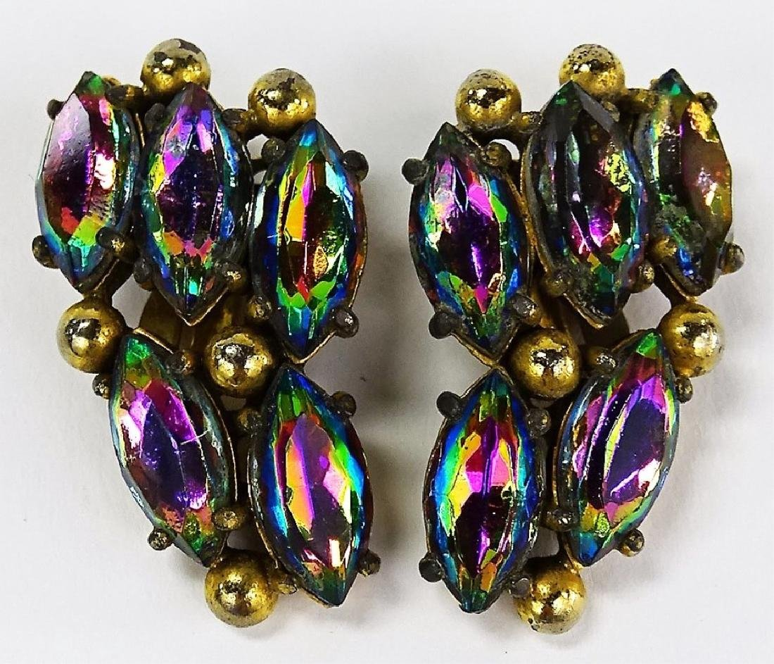 PAIR OF SIGNED SHAPPARELLI ANTIQUE EARRINGS