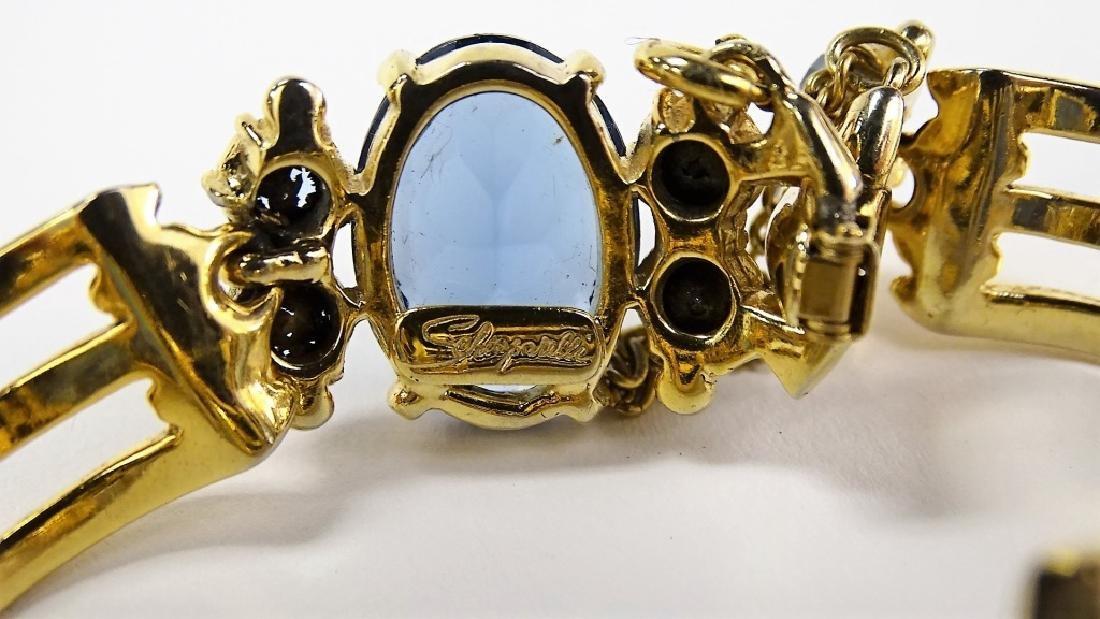 SIGNED SCHAPARILLI GOLD TONE BRACELET - 2