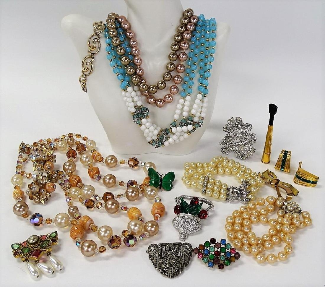 LARGE LOT OF COSTUME JEWELRY - 2