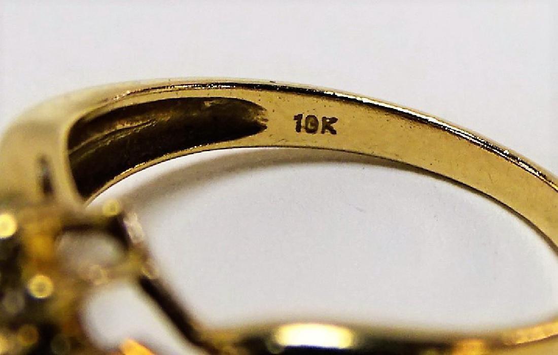 EXTRAVAGANT 14KT YG RUBY & DIAMOND BAND RING - 3
