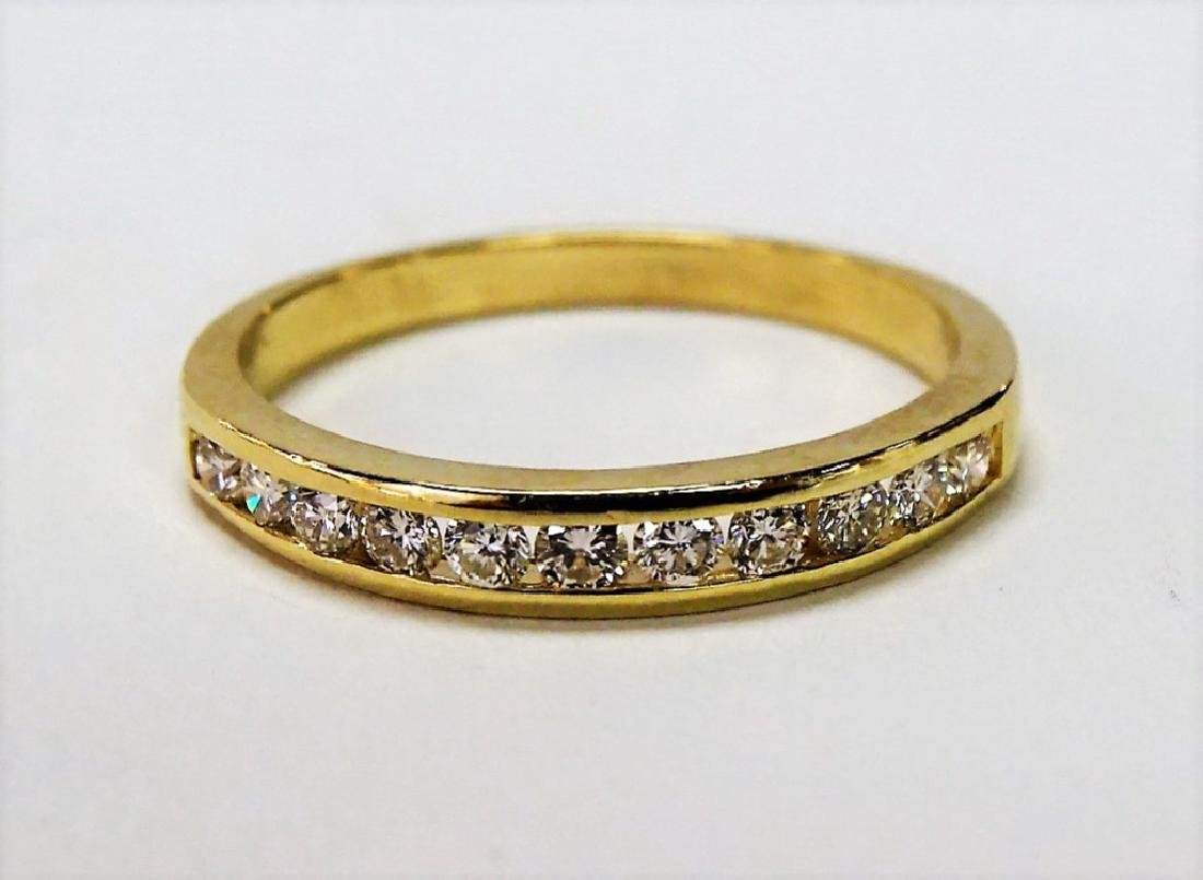 LADIES 14KT YG ESTATE DIAMOND WEDDING BAND RING
