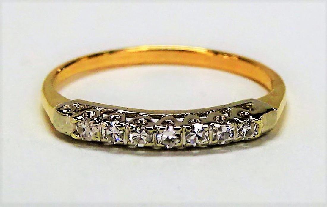 LADIES 14KT YG ESTATE DIAMOND BAND RING