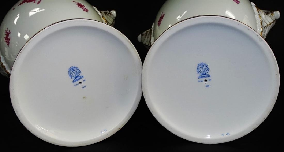 PR OF HEREND 'CHINESE BOUQUET' PORCELAIN URNS - 3