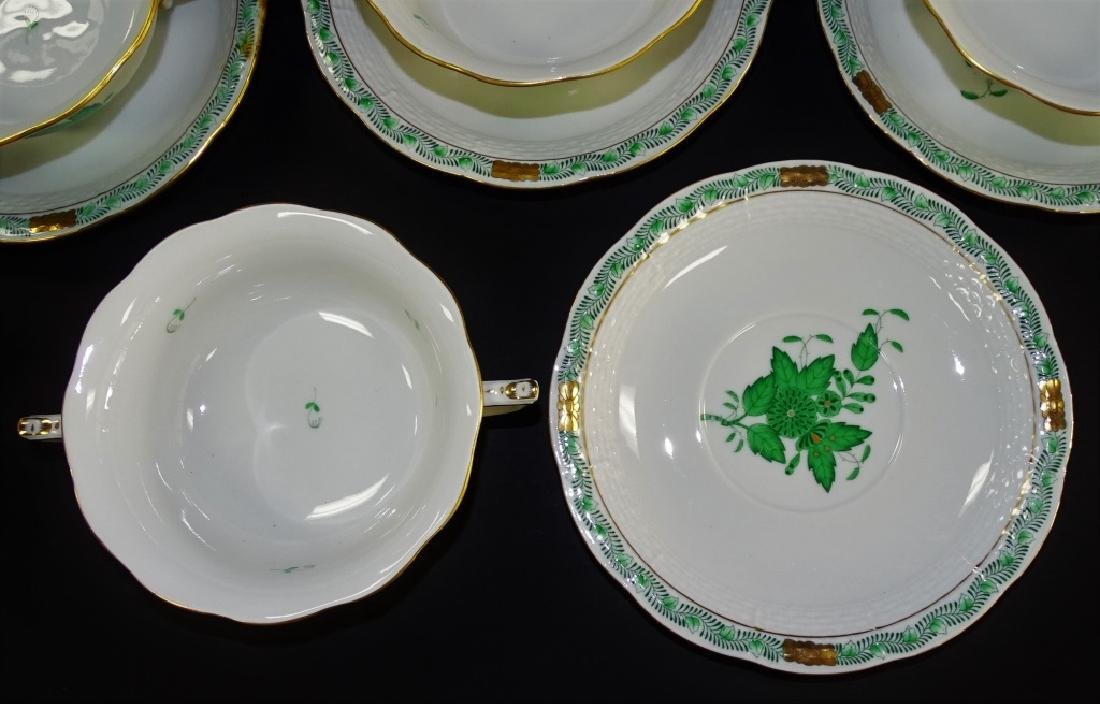 16PCS HEREND 'CHINESE BOUQUET' CUPS & SAUCERS - 2