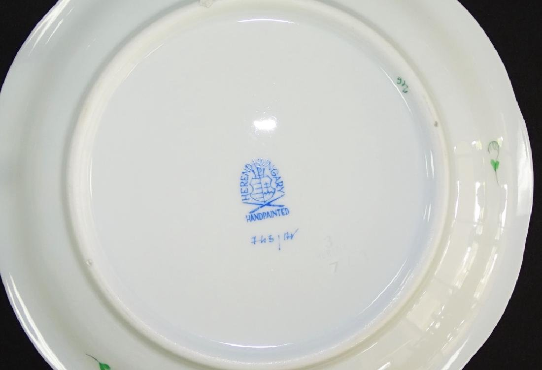 16PCS HEREND 'CHINESE BOUQUET' CUPS & SAUCERS - 3