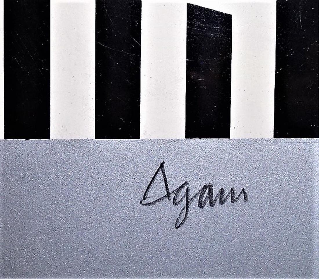 YAACOV AGAM LARGE LITHOGRAPH AGAMAGRAM - 4