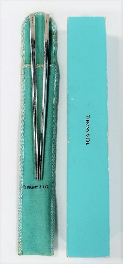 PAIR OF TIFFANY & CO STERLING SILVER HAIR PINS