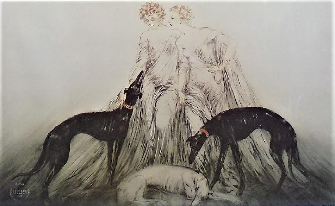 "LOUIS ICART PRINT TITLED ""COURSING LII'"