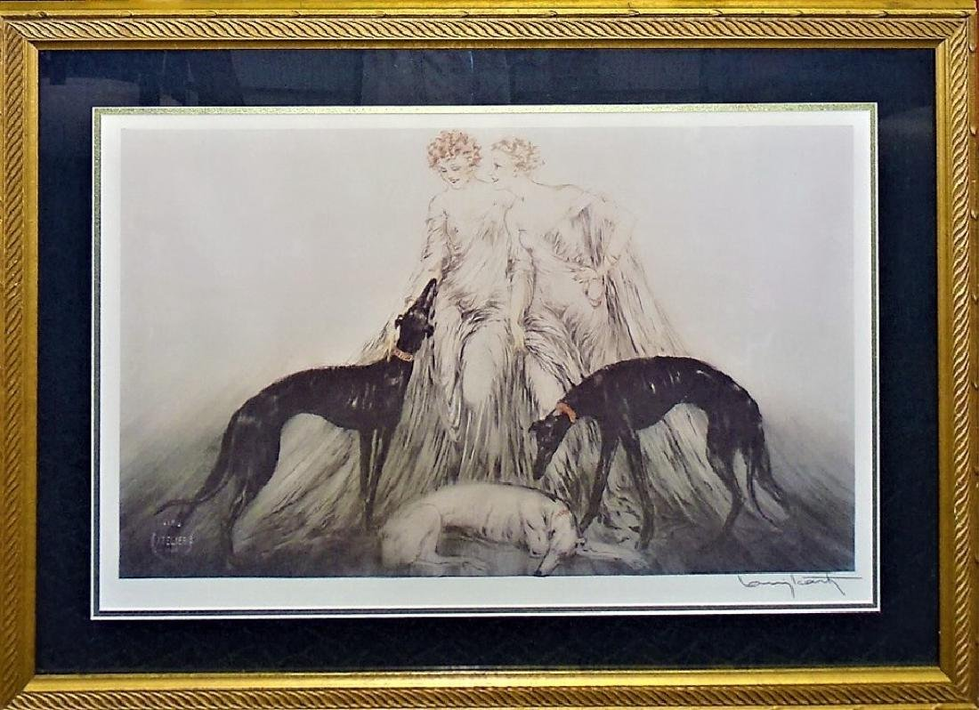 "LOUIS ICART PRINT TITLED ""COURSING LII' - 2"
