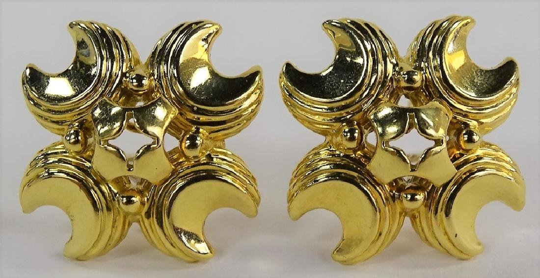 PR LADIES SOLID 18KT YELLOW GOLD EARRINGS