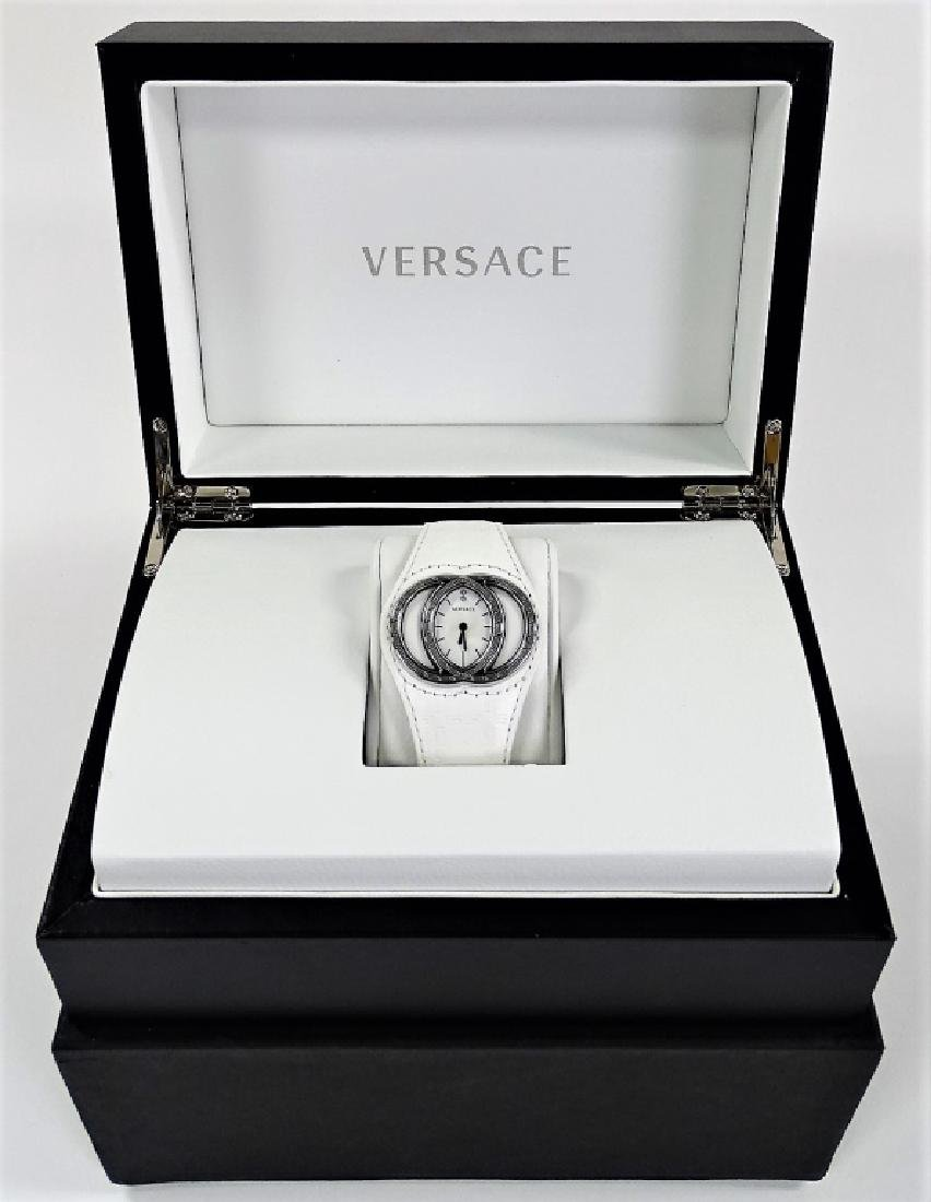 VERSACE ECLISSI LADIES WHITE LEATHER WATCH