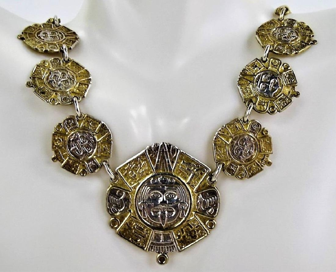 RARE TAXCO MEXICO STERLING SILVER CHARM NECKLACE