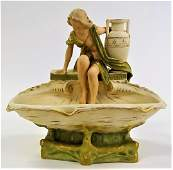ROYAL DUX ART NOUVEAU LADY BY FOUNTAIN HAMPEL