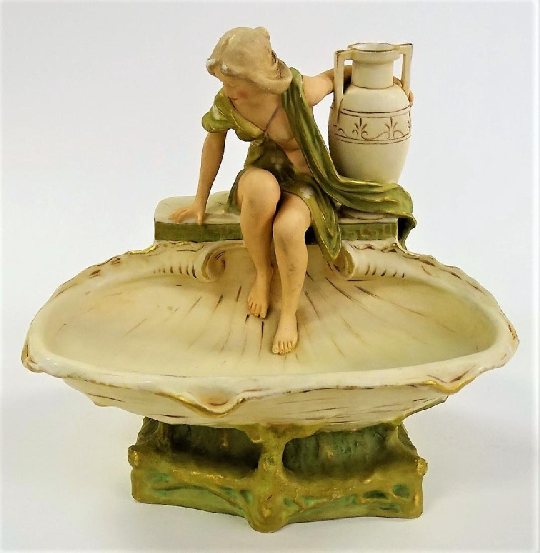 ROYAL DUX ART NOUVEAU LADY BY FOUNTAIN HAMPEL - 2