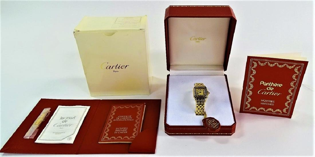 CARTIER PANTHERE 18KT Y GOLD WATCH BOX/ PAPERS