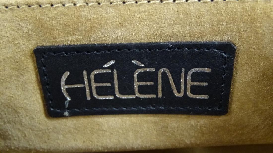 HELENE ITALIAN DESIGNER SNAKESKIN LEATHER HANDBAG - 3