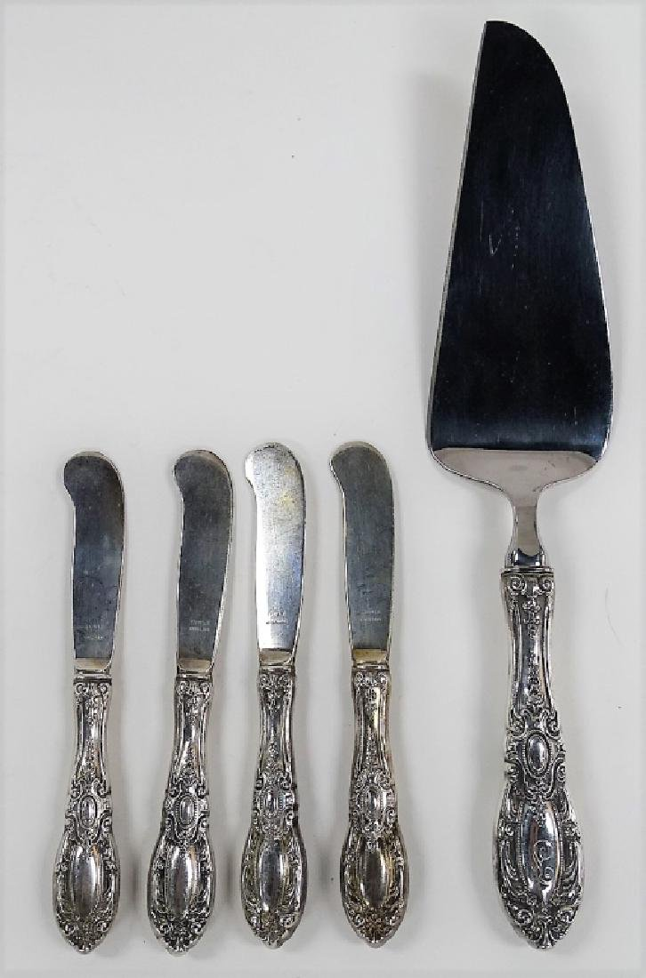 5PCS ANTIQUE TOWLE STERLING HANDLED FLATWARE
