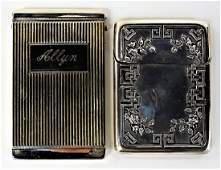 2 EARLY 20TH C. AMERICAN STERLING CARD CASES