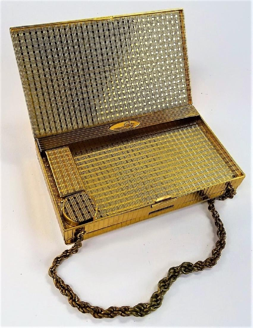 DECO EVANS JEWELED GOLDTONE MINAUDIERE CASE - 4