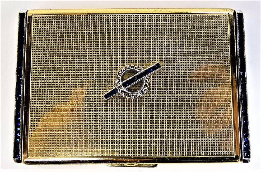 LOT OF 2 DECO GOLDTONE METAL CASES - 4