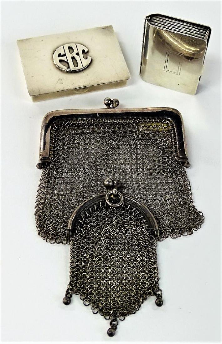LOT OF 4 VINTAGE STERLING SILVER PURSE ITEMS