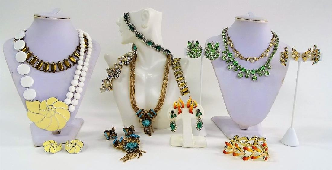 LARGE LOT OF COSTUME JEWELRY SETS