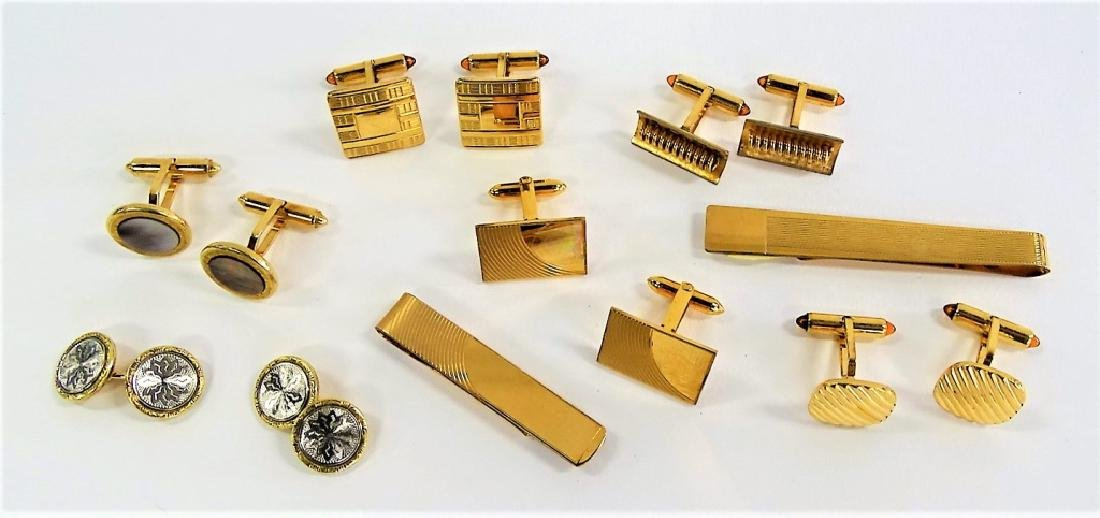 LARGE LOT OF COSTUME LINKS/TIE CLIPS
