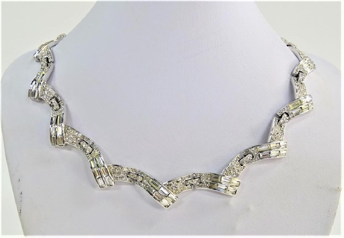TRIFARI PHILIPPE SLVR TN W/ MARCASITE NECKLACE