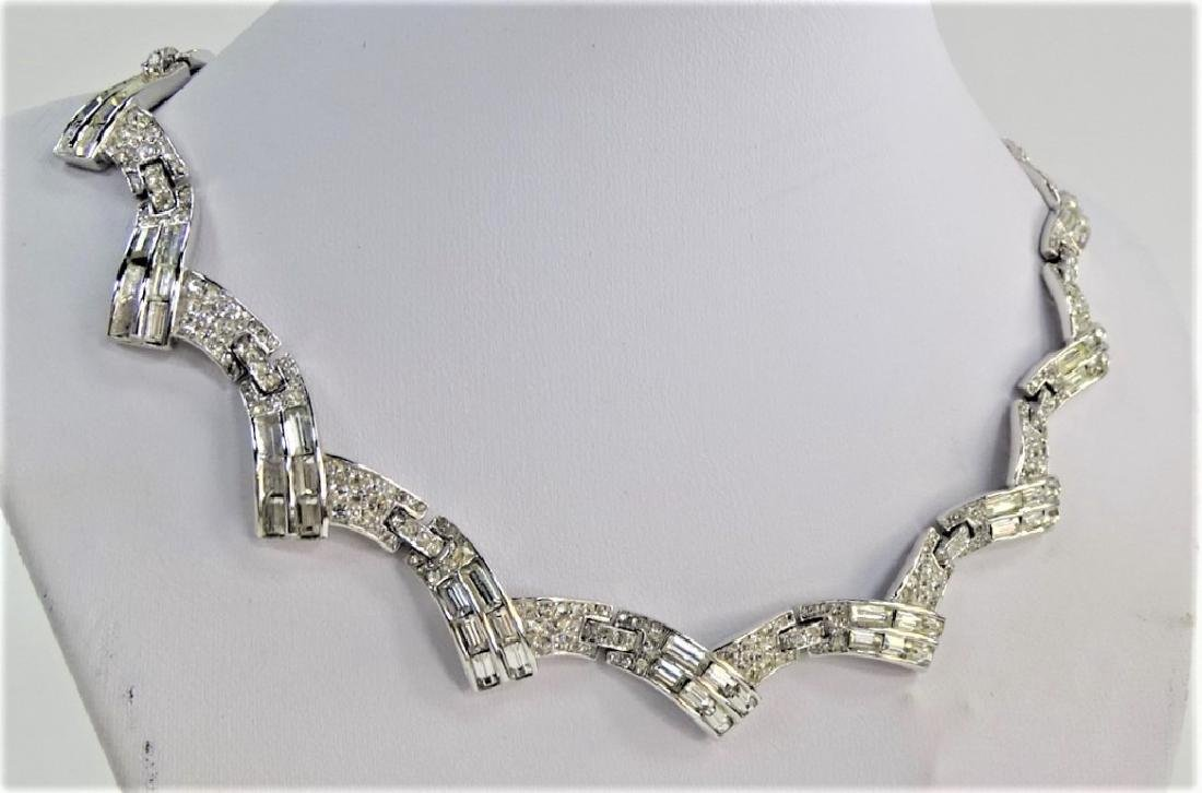 TRIFARI PHILIPPE SLVR TN W/ MARCASITE NECKLACE - 2