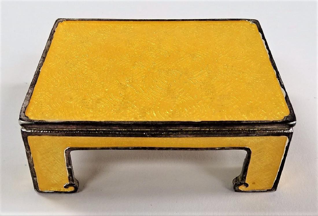 JAY STRONGWATER ENAMEL PEDESTAL TABLE