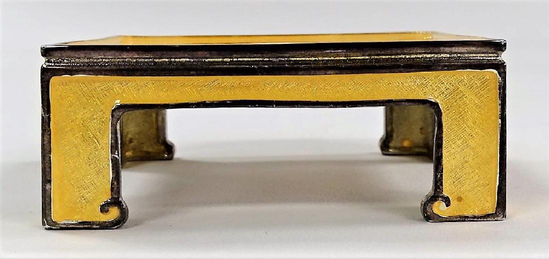 JAY STRONGWATER ENAMEL PEDESTAL TABLE - 2