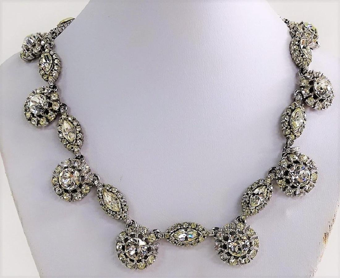 CINER SLVR TN W/ RHINESTONE CHOKER NECKLACE