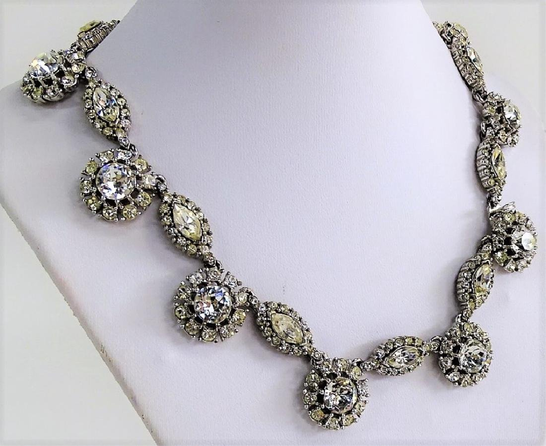 CINER SLVR TN W/ RHINESTONE CHOKER NECKLACE - 2