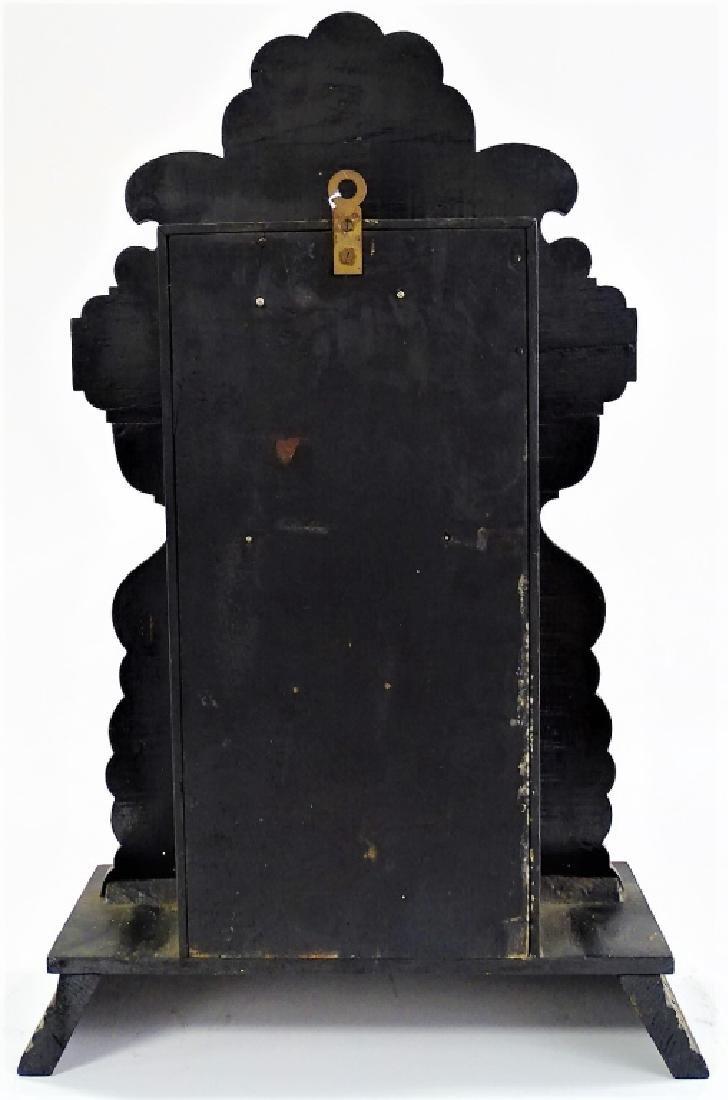 19TH C. AMERICAN CARVED JET CASE SHELF CLOCK - 4