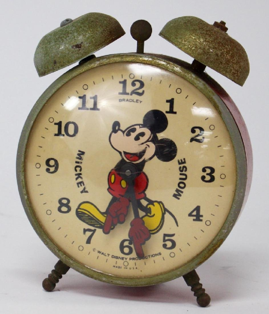 VINTAGE BRADELY MICKEY MOUSE NOVELTY ALARM CLOCK