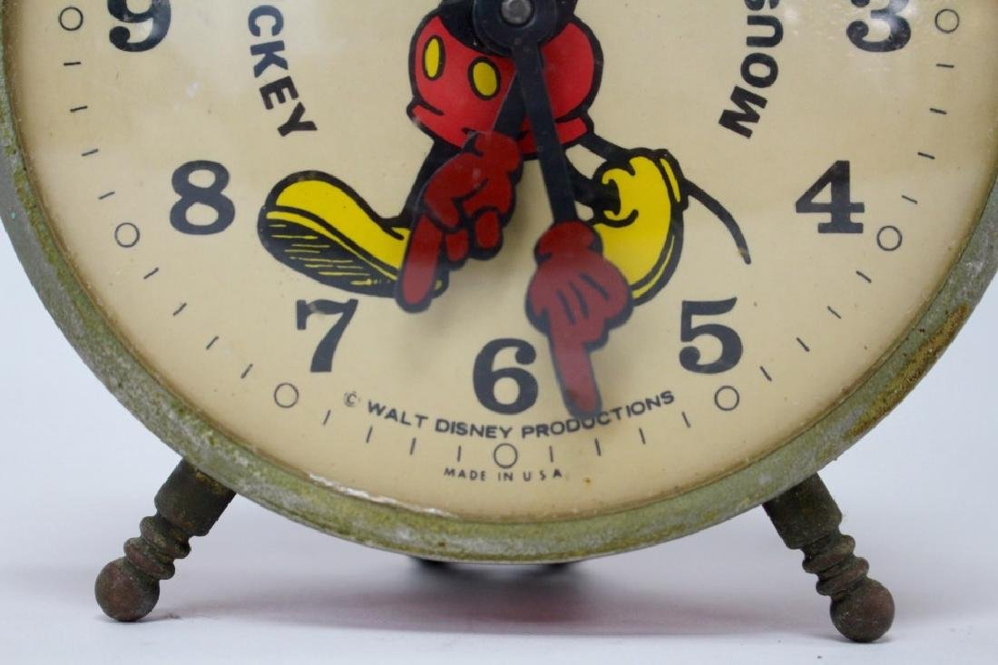VINTAGE BRADELY MICKEY MOUSE NOVELTY ALARM CLOCK - 2