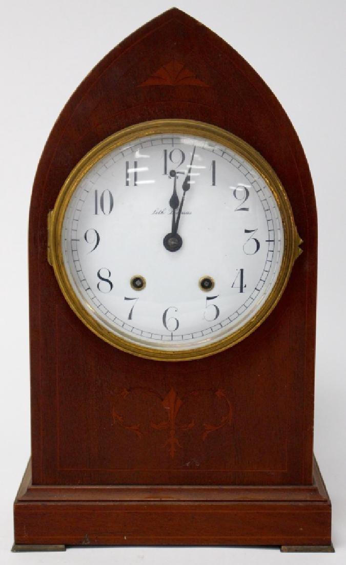 19TH C. SETH THOMAS OAK CASE MANTEL CLOCK