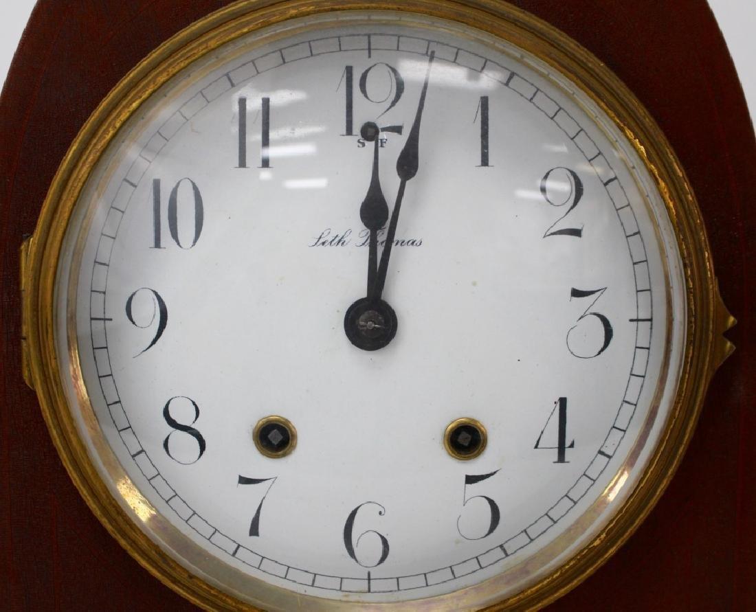 19TH C. SETH THOMAS OAK CASE MANTEL CLOCK - 2