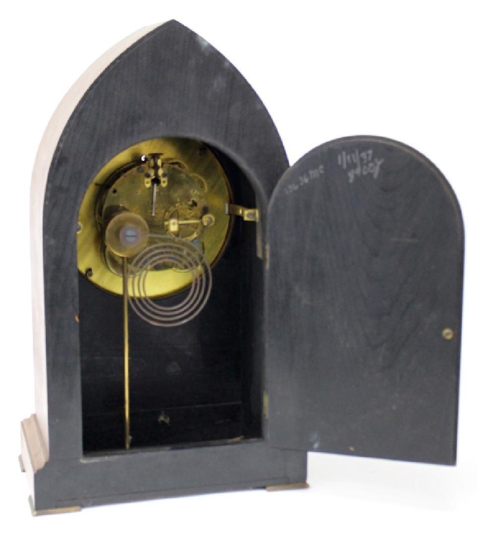 19TH C. SETH THOMAS OAK CASE MANTEL CLOCK - 3