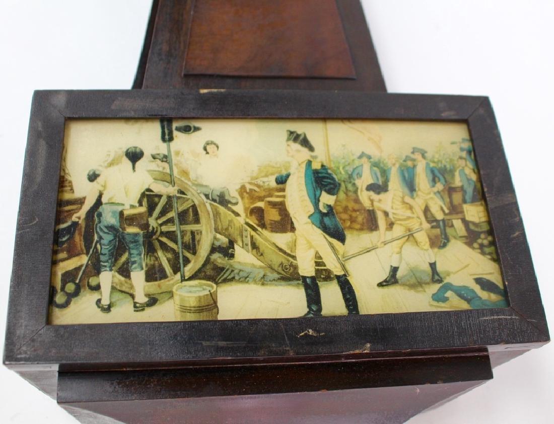 ANTIQUE GILBERT '1807' WALNUT CASE BANJO CLOCK - 3