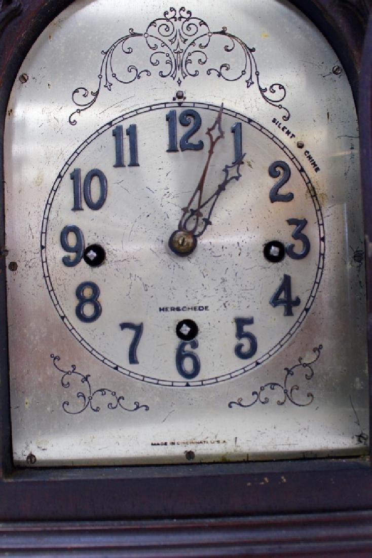 HERSCHEDE 'MODEL 20' MAHOGANY CASE MANTEL CLOCK - 3